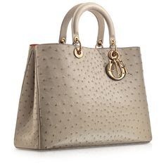 DIORISSIMO Smooth mink grey leather