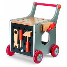 little wooden tool wagon