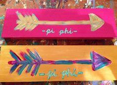 Pi Beta Phi arrow crafts #piphi #pibetaphi