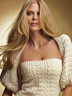 Love this sweater with bolero! designer unknown