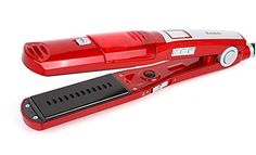 Hair Straightener | Red Heated Electric Dry  Wet Hair Steam Straightener with Perfect Hairstyle in Minutes * Check out the image by visiting the link.-It is an affiliate link to Amazon. #HairStraightener