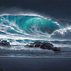 """Nocturnal Deep"", original oil painting by Hawaiian seascape artist, Roy Tabora. Ocean Photography, Photography Tips, Portrait Photography, Wedding Photography, Ocean Scenes, Wave Art, All Nature, Amazing Nature, Sea And Ocean"
