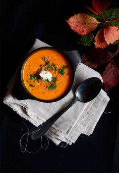 Velouté de potimarron au lait de coco / Notre carnet de comfort food d'automne