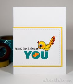 Some Birdie Loves You card @ aliciatheli.com #clearlybesotted