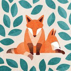 Fox and fox. By Julianna Johnson