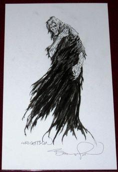 BERNIE WRIGHTSON's Ghostly Grimm Reaper!!! Comic Art