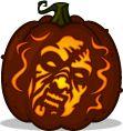Deadite Cheryl pumpkin pattern - The Evil Dead - Pumpkin Carving Patterns and Stencils - Zombie Pumpkins!