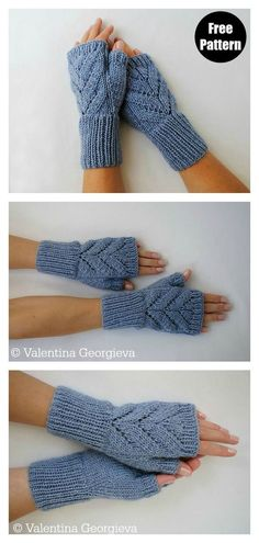 Stulpen stricken - - This Leaves Fingerless Gloves Free Knitting Pattern is great to add these lovesome Leaves knitted fingerless gloves to your staples. Baby Knitting Patterns, Knitting Stitches, Free Knitting, Free Crochet, Knit Crochet, Crochet Patterns, Knitting Toys, Easy Knitting Projects, Knitting For Beginners