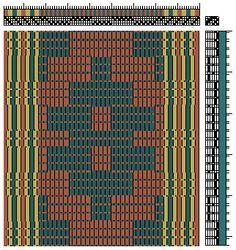 4 Shaft weaving Draft Repp
