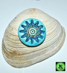 Polymer clay pendant by JS Creations