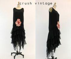 20 s Seide Floral Dress