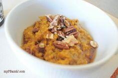 pumpkin steel cut oatmeal {recipe} | My PB + J