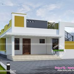 Simple Contemporary Home Houses Plans Simple House Design Single Floor House Front Design House Front Wall Design, Village House Design, Duplex House Design, Duplex House Plans, Simple House Design, Home Room Design, Modern House Plans, Small House Plans, 20x40 House Plans