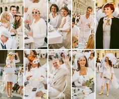 Diner en Blanc, also known as Diner in White, a top secret invitiation-only flash mob in Paris, France where 11,000 people dressed entirely ...