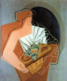 Juan Gris- Woman With Basket, 1927.  Art Experience NYC  www.artexperiencenyc.com/social_login/?utm_source=pinterest_medium=pins_content=pinterest_pins_campaign=pinterest_initial