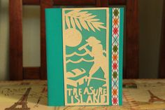Treasure Island handmade greeting card by AnLieDesigns on Etsy, $2.00