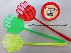 """También vimos en las """"Jornadas ABN"""" este material:    """"El cazamoscas""""   (A partir de 2 jugadores)        Materiales:   - Matamoscas   - Pape..."""