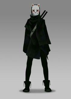 Fantasy Character Design, Character Concept, Character Inspiration, Character Art, Concept Art, Inspiration Art, Kitsune Mask, Hero Costumes, Drawing Clothes