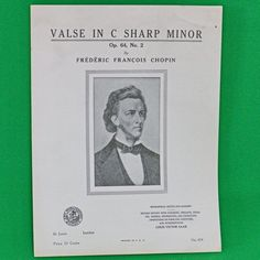 1937 Art Publication Society Teacher's Library Sheet Music, #674, Frederic Chopin