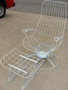 Vintage Mid Century Patio Furniture I Am On The Hunt For An Old Wire Chair Like This One