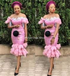 The most beautiful collection ankara aso ebi styles of 2018 you must try. These beautiful aso ebi are very exotic Nigerian Lace Dress, Nigerian Lace Styles, Aso Ebi Lace Styles, African Lace Styles, African Lace Dresses, Latest African Fashion Dresses, African Dresses For Women, African Print Fashion, African Attire