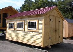 Check out this charming 10' x 16' gable shed with windows from Jamaica Cottage Shop. It's both spacious and heavy duty! Find quality shed kits online today. http://jamaicacottageshop.com/shop/gable-series-medium/