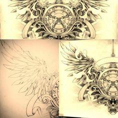 Timeless... chest tattoo by dirtfinger on deviantART
