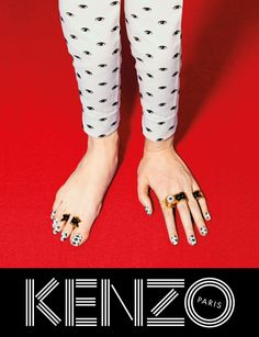 The joyful, pop-surrealist style advertising campaign launched by Parisian label Kenzo is the result of collaboration with experimental picture-based magazine ToiletPaper.The creative directors at Kenzo, since Sean O'pry, Fashion Advertising, Advertising Campaign, Campaign Posters, Advertising Design, Rinko Kikuchi, Fashion Graphic, Fashion Design, Graphisches Design
