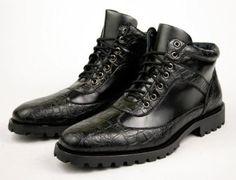 Delli Aldo Men's Fashion Ankle Boots Lace Up Alligator Dress Shoes (10.5) Delli Aldo. $38.99