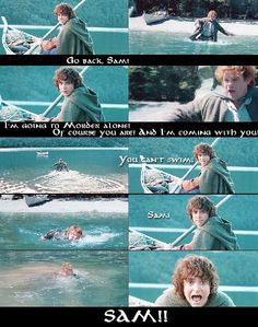 Remember Frodo's parents drowned in a river, so seeing his best friend slip under water and not reappear...scary...