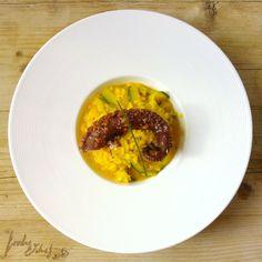Pulpo en adobo con risotto de azafrán, de Darío Barrio - foodie&chef