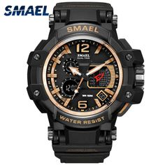SMAEL Fashion Cool Gold Style Enthusiasm Men Watches 1509 Quartz Electronic Sport Wristwatch Relogio Masculino Clock Uhren. Yesterday's price: US $18.95 (15.48 EUR). Today's price: US $10.99 (8.93 EUR). Discount: 42%.