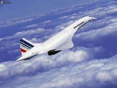 Concorde über den Wolken