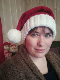 Strikket nisselue i Järbo Vinga #Jul #christmas #santahat #nisselue #advent