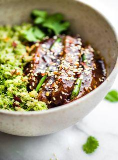 Mongolian Beef Broccoli Rice Bowls (Paleo)