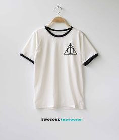 Deathly Hallows Shirt Harry Potter Shirt TShirt T-Shirt T Shirt Tee by TwoToneTeeToOne on Etsy https://www.etsy.com/listing/251985212/deathly-hallows-shirt-harry-potter-shirt