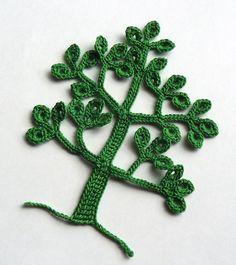 (4) Name: 'Crocheting : Crochet Tree Motif