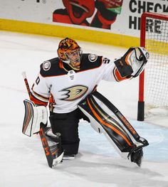 5236e7c45 Ryan Miller #30 of the Anaheim Ducks tends net against the New Jersey  Devils at