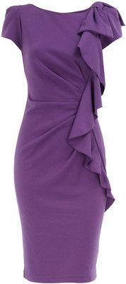 Violet frill front dress,Dorothy Perkins