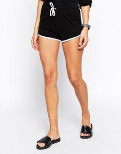 Image 4 ofASOS Basic Cotton Shorts with Contrast Binding