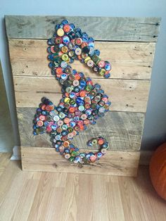 Beer Bottle Cap Art #seahorse #beerbottle