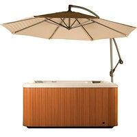 The Delux, Octagon Under Spa Umbrella. Every spa should be protected from the sun. This elegant and convenient umbrella is always ready to help you enjoy your spa. Pool Cover Pump, Hot Tub Accessories, Tubs For Sale, Offset Umbrella, Hot Tub Cover, Pergola Canopy, Pool Supplies, Whirlpool Bathtub, Small Patio