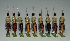 antike Zinnfiguren * 9 x Russische Lanzenreiter * Georg Heyde um 1900 | eBay