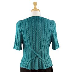 Cable Crossover Cardigan by Adrienne Larsen back
