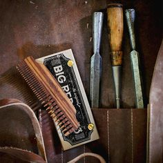 The Big Red No.53. Our answer to an all around wood comb. It's just as good at detangling as it is for a good slick back. Use it on your head, use it on your beard. It you had to have just one wooden comb then this should be it. We also offer free custom engraving on this #badass comb. Grab one you won't be disappointed. #bigredbeardcombs #beard #barber #bearded #barberlife #menstyle #mensstyle #girlswholovebeards #beardcare #beardcomb #pocketcomb #comb #mensgrooming #facialhair…