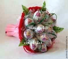 Букеты ручной работы. Ярмарка Мастеров - ручная работа Киндер-букет 12, букет из конфет. Handmade.