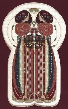Twins Art Nouveau Cross Stitch Kit by Barbara Thompson