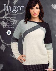 Пуловер интарсией