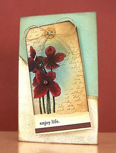 brilliant card.. great way to add a tag to a card.. absolutely lovely!  http://stampinginspiredby.blogspot.com