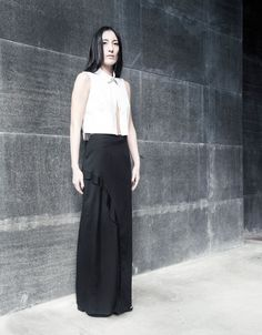 EMBRACE BRAND is an emerging contemporary fashion brand.The brand speaks to women with a strong personal identity and an eclectic and innate style. Frill Skirts, Personal Identity, Ss 15, Crop Shirt, Contemporary Fashion, Fashion Brand, High Waisted Skirt, Women Wear, Feminine
